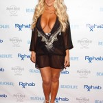 Aubrey O'Day Wearing a Swimsuit at The Hard Rock Hotel in Las Vegas - June 17, 2012  - 02