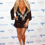 Aubrey O'Day Wearing a Swimsuit at The Hard Rock Hotel in Las Vegas - June 17, 2012  - 03