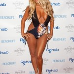 Aubrey O'Day Wearing a Swimsuit at The Hard Rock Hotel in Las Vegas - June 17, 2012  - 08