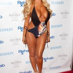 Aubrey O'Day Wearing a Swimsuit at The Hard Rock Hotel in Las Vegas - June 17, 2012  - 09