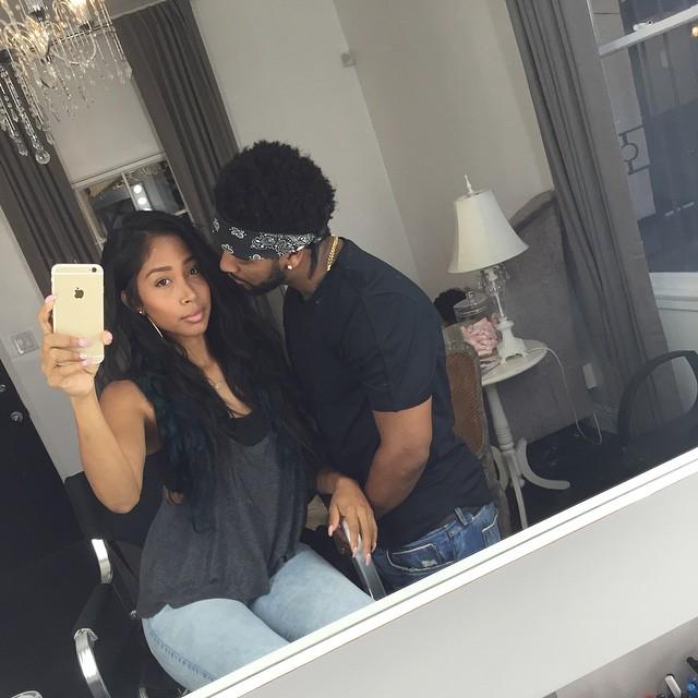 Apryl Jones and Omarion   T.V.S.T. Alicia Keys Instagram