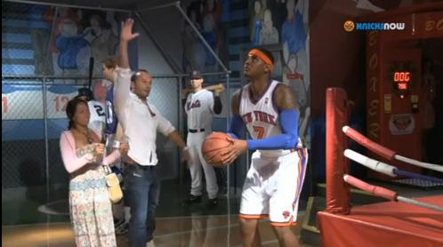 Carmelo Anthony Tricks The Public, Poses As His Own Wax Figure