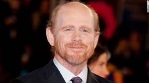 ron howard head white shirt black tie smiling