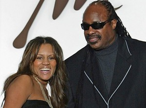 Stevie Wonder and Kai Milla during happier times
