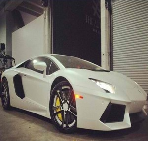 White Lamborghini Aventador from Alex Vega