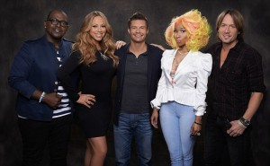 Randy Jackson, Mariah Carey, Ryan Seacrest, Nicki Minaj and Keith Urban