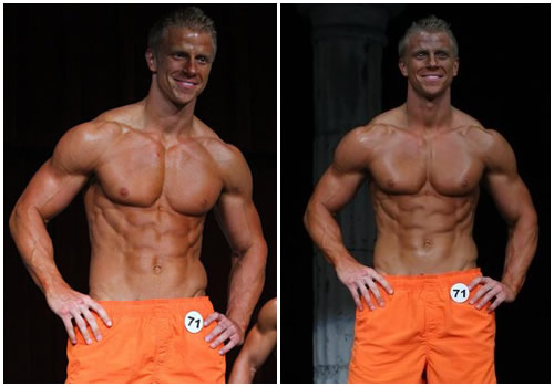 The Bachelor Sean Lowe Posing Shirtless without a shirt on photo