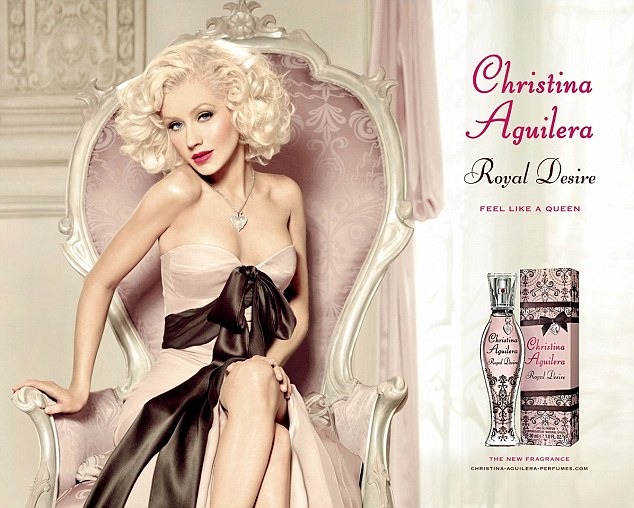 Christina Aguilera photoshopped Skinny in Royal Desire Ad