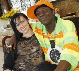 Flavor Flav with his Baby's Mother