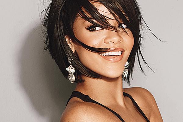 Rihanna Smiling Playfully