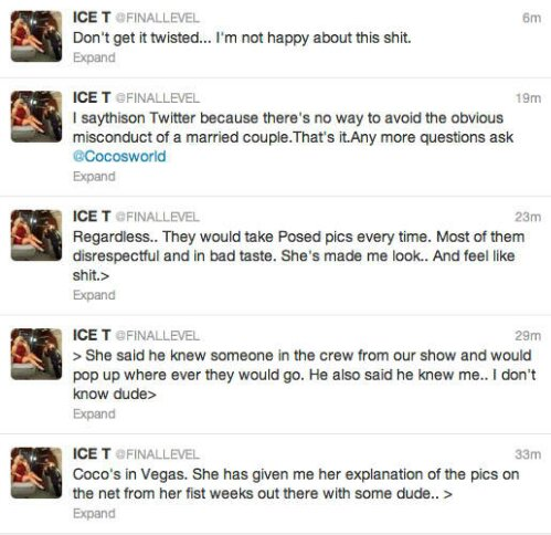 Ice T tweets About Leaked Photos