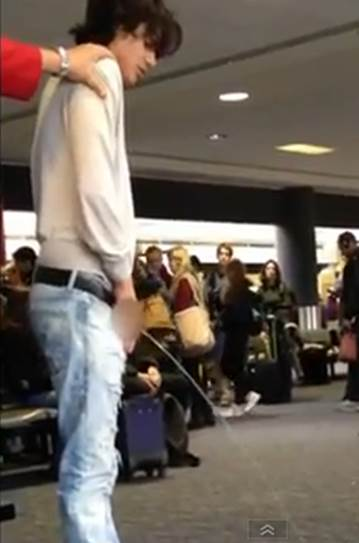WATCH – Twilight Star Bronson Pelletier, Drunk in LAX, whip it Out and Urinate Right there in the Terminal [Video]
