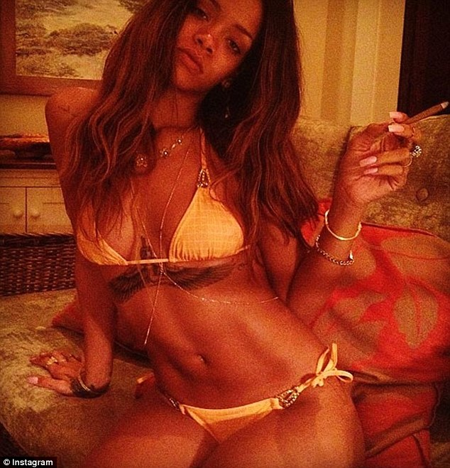Rihanna Bikini and abs