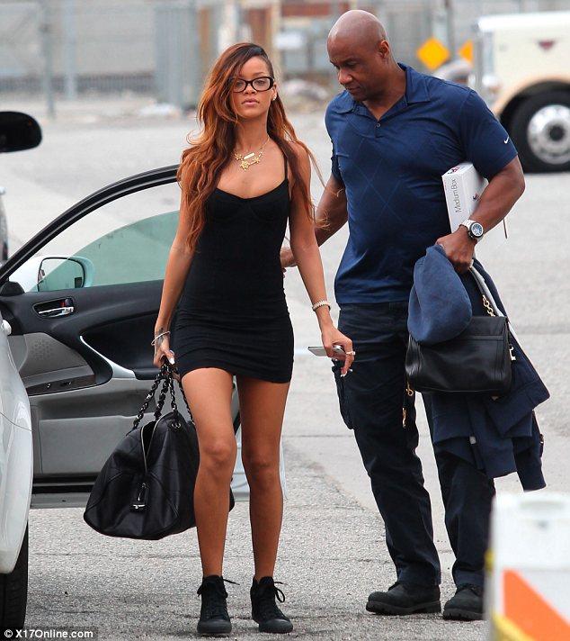 Rihanna Little Black Dress
