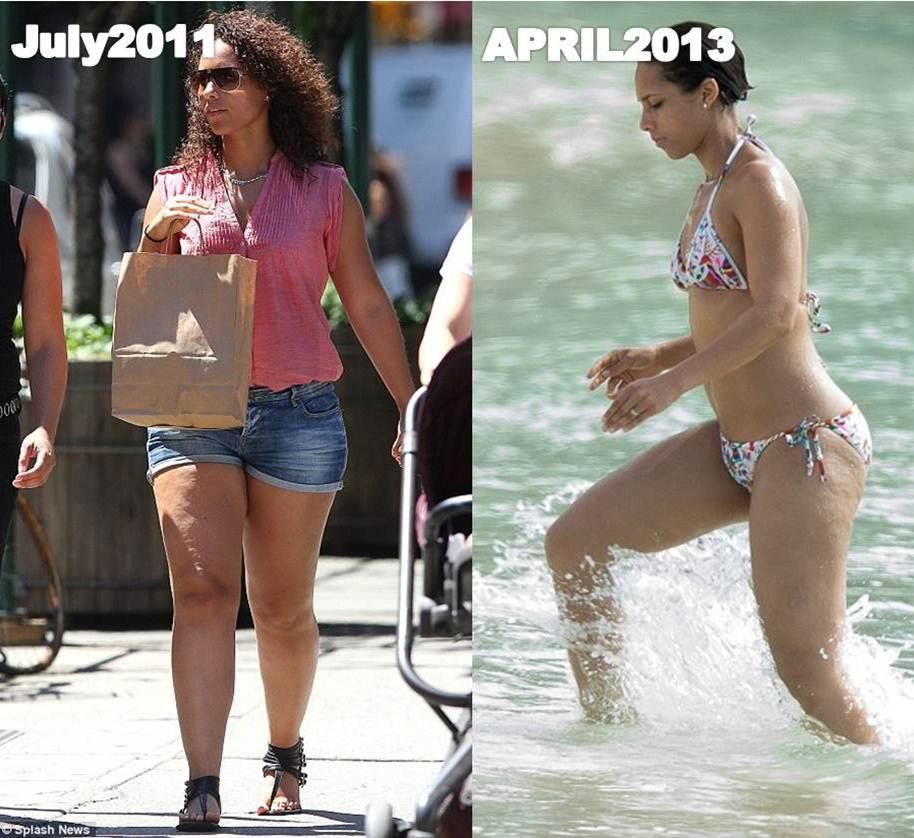 Alicia Keys Bikini 2013 Did Alicia Keys By a Thigh