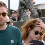Robert Pattinson and Kristen holding hands att Coachella 2013