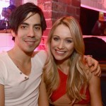 Katrina Bowden poses with her new husband Ben Jorgensen