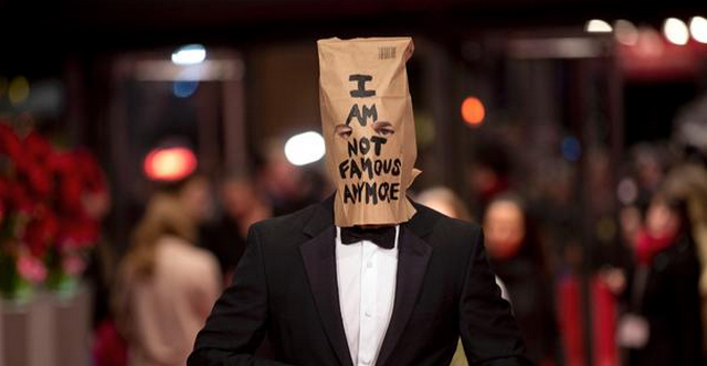 Shia LaBeouf Has Lost It, Wears Paper Bag On His Head To Red Carpet (PHOTOS)