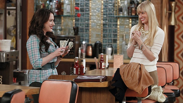 '2 Broke Girls' Stars Insist Lindsay Lohan Was NOT A Train Wreck On Set