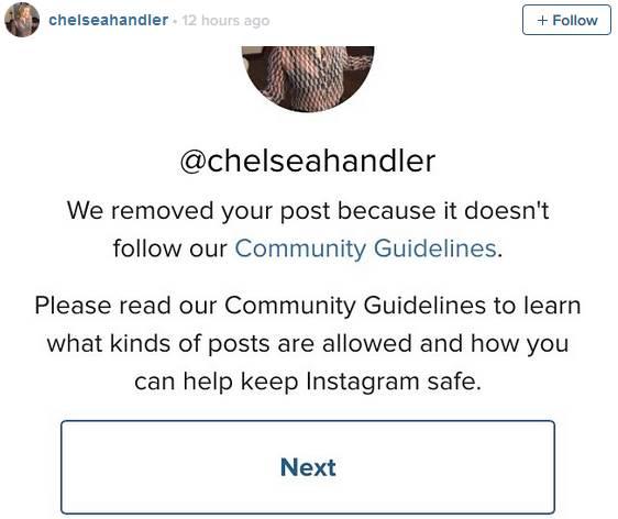 Chelseahandler Instagram account