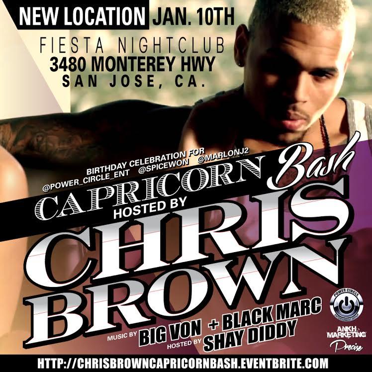 chris brown flyer