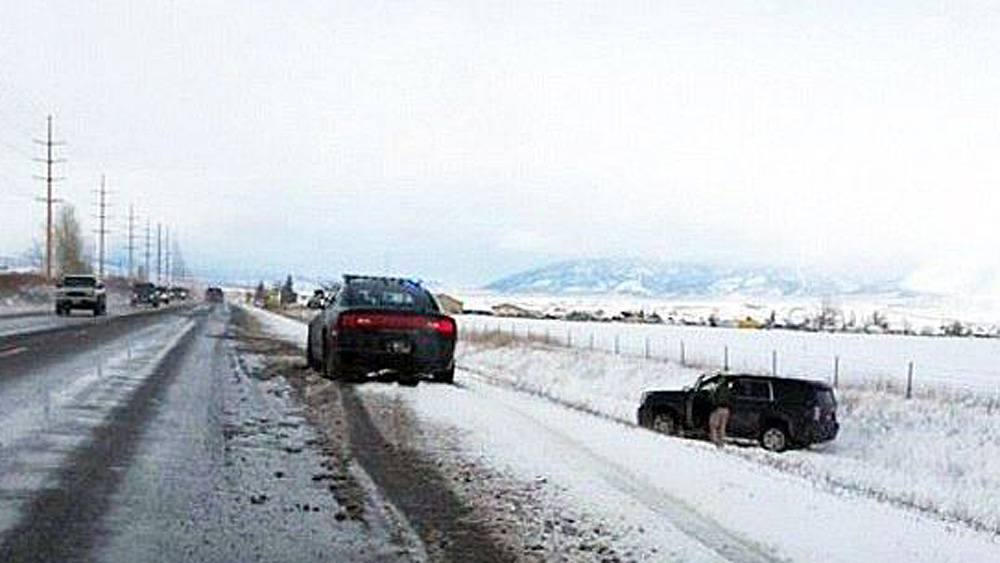 Khloe Black Yukon SUV in Ditch