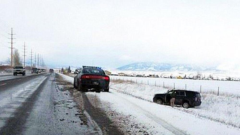 Khloe Black Yukon SUV in Ditch
