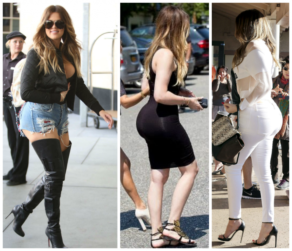 28FEB2015 - khloe kardashian fat butt