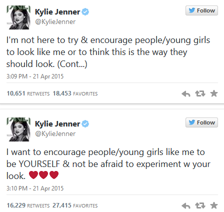 Kylie Jenner tweet about Kylie Jenner challenge