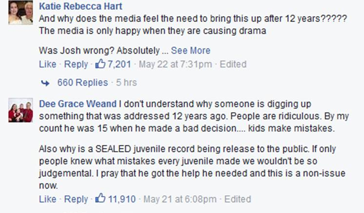 Duggar facebook argument