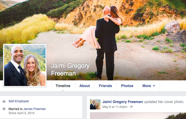 Jaimi gregroy Freeman facebook profile snapshot - 13MAY2015