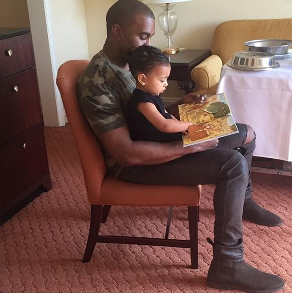 Kanye-West-North-West-reading-book-Instagram