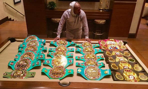 Floyd-Mayweather-Shows-off-His-Championship-Belt-Collection-on-Instagram