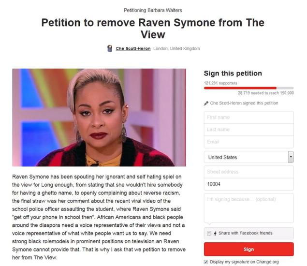 Desoto Police Chief Defends Officer In Viral Video: ABC Laughs At The Petition To Get Raven Symone Fired From