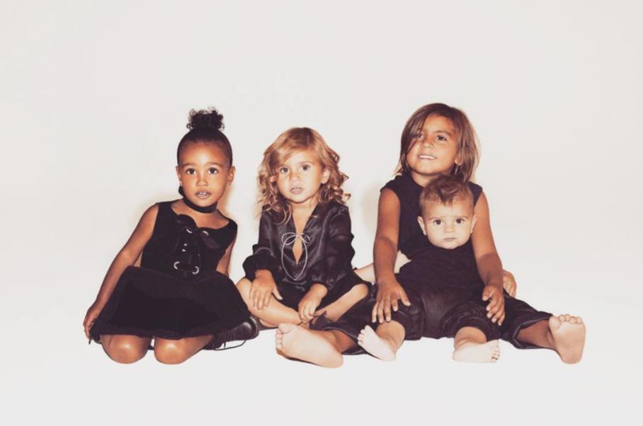 Kim-and-Kourtney-Kardashian-Chidlren-North-West-and-Penelope-Mason-and-Reign