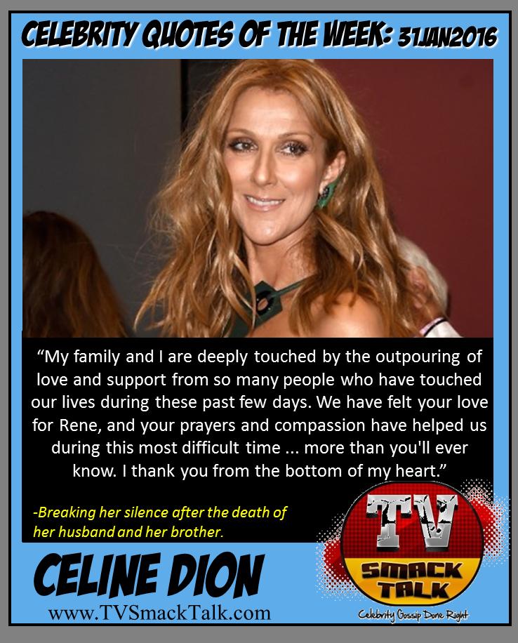 Celine Dion 31JAN2016