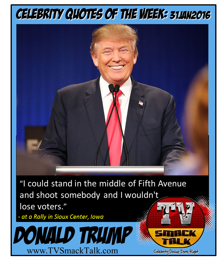 Donald Trump - 31JAN2016