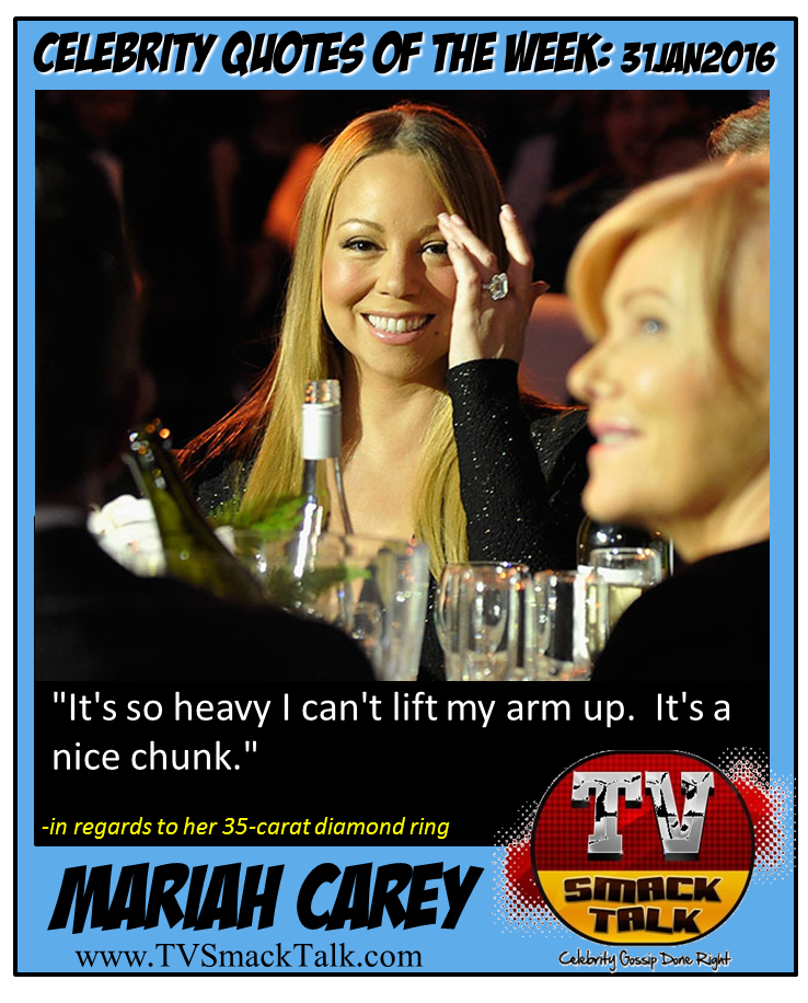 Mariah Carey - 31JAN2016