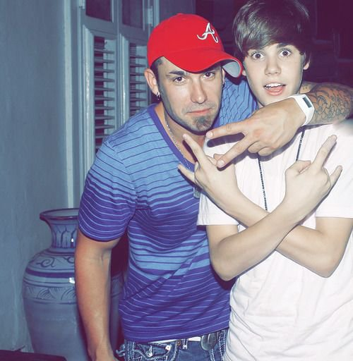 jb with his dad