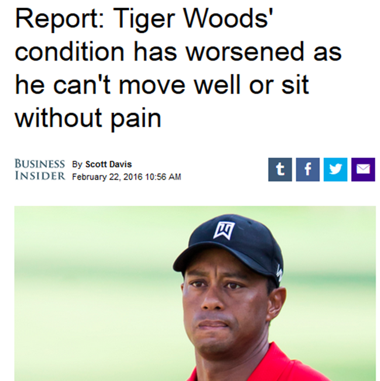 Tiger Woods 26FEB2016