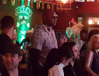 Oh, No! Lamar Odom Was Seen Drinking At A Bar Just Hours Before Attending Easter Church Services With Khloe (PHOTOS)