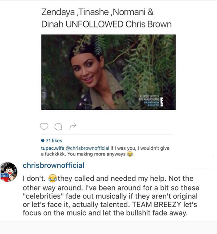 Round 1 Chris Brown Tweet