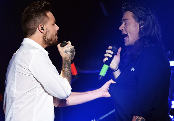 Liam Payne doesn't want to let Harry go. Credit: Kevin Winter // Getty Images
