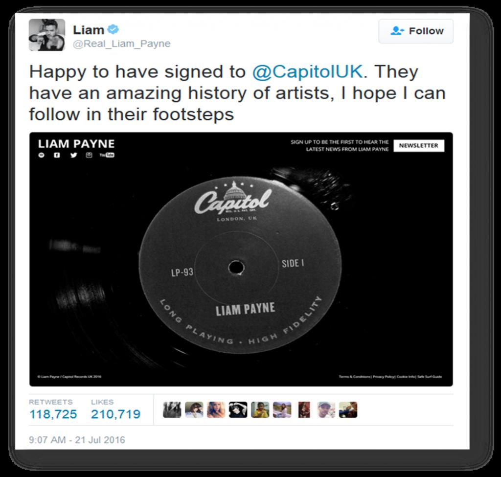 Liam Tweet 1