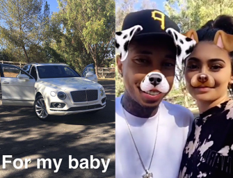 Kylie Jenner Saves The Day, Surprises Tyga With A New Bentley After His Ferrari Was Reportedly Repossessed…TRUE LOVE!