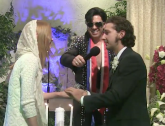 So, Uh, Shia LaBeouf Just Married Mia Goth In A Pretty Bizarre Las Vegas Wedding (PHOTOS AND VIDEO)