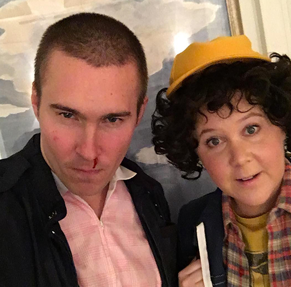Amy Schumer And Her Boyfriend as Dustin and Eleven from Stranger Things.