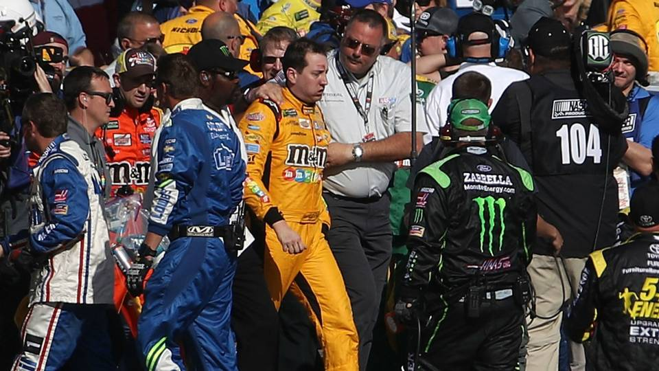 Oh Snap…NASCAR Just Got More Interesting, Watch Kyle Busch And Joey Logano Get Into A Nasty Brawl After Race In Vegas! (VIDEO)