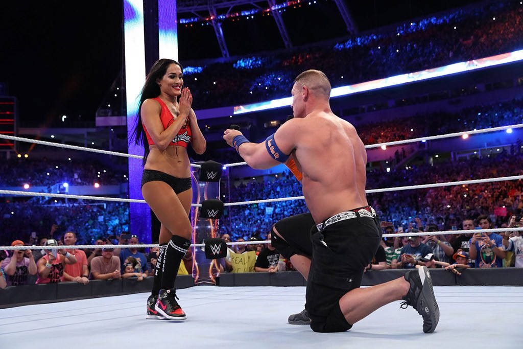 John Cena Proposes To Nikki Bella In The Ring During WrestleMania 33, We Got The Adorable Video Inside!