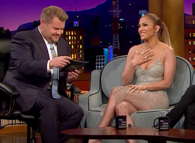 "James Corden Finally Asked The Question We've All Been Wanting To Know: Does Jennifer Lopez Call Alex Rodriguez ""A-Rod""? Watch Her Answer! (VIDEO)"